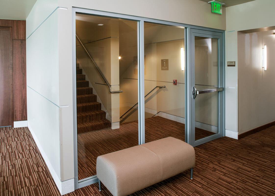 highmark medical pavilion fire rated glass door design. Black Bedroom Furniture Sets. Home Design Ideas